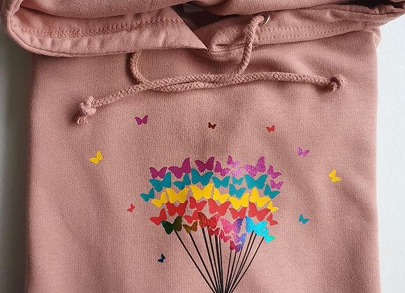 Children's Rainbow Butterflies Hoodie