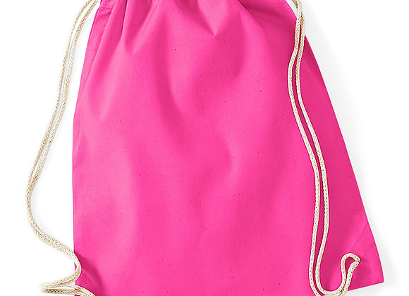 Cotton drawstring Bag - Fuchsia