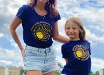 Twinning Adult and Child sunshine T-shirt