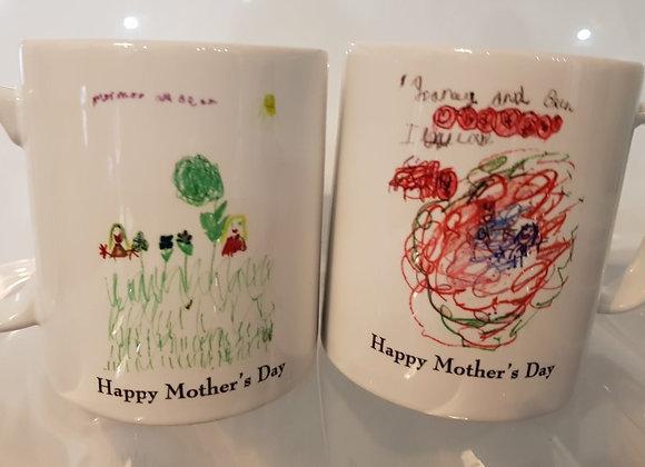 Drawing transferred to a Mug
