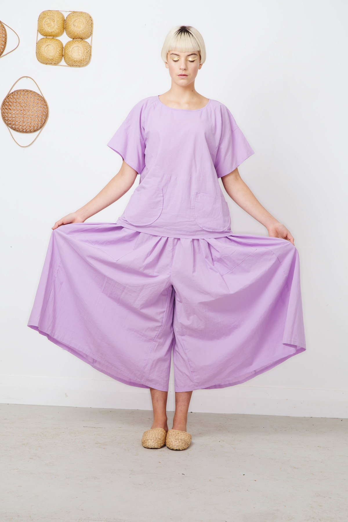 pyrite top+garnet wide pants -lilac