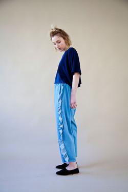 lapis lazuli+larimar pants