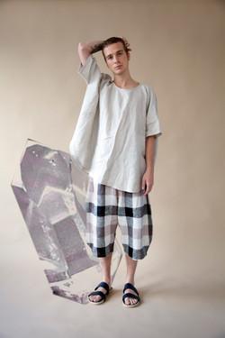 selenite top+agate shorts