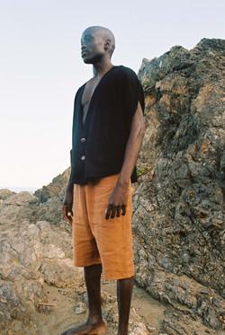tanzonite jacket +obsidian pants