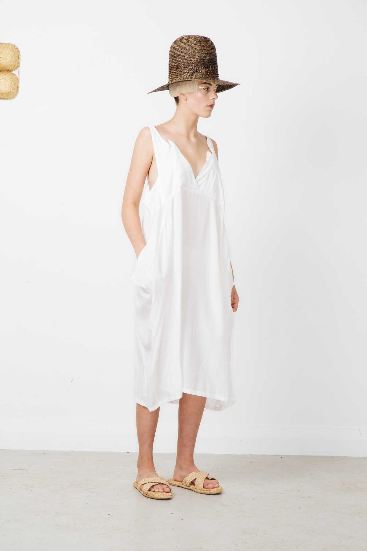 coefficient dress -white