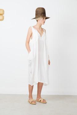 coefficient dress -white