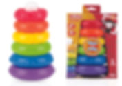 NB6208 Weeble Wobble Stacking Rings Toy