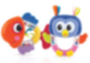 NB701 1pk Rattle Pals- Owls or Fish