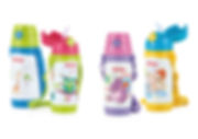 NB10226 Nuby SS Click-It Thermos w Cup and Strap 360ml
