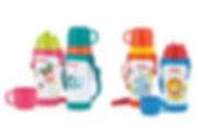 NB10225 Nuby SS Click-It Flip-It Push Button with Strap 360ml