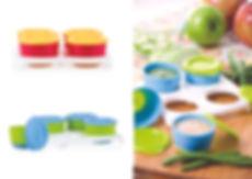 NB5439 Garden Fresh - 4pk Fresh Food Snack Pots in Tray