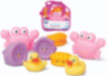 PLAYGRO Bathtime Squirtees 8pk (Girl Version)