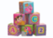 PLAYGRO My First Soft Blocks Pink (Bath Blocks)