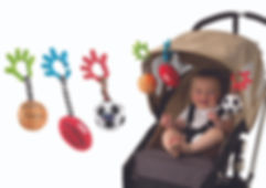 PLAYGRO Wriggling Baby Sport Balls 3PK