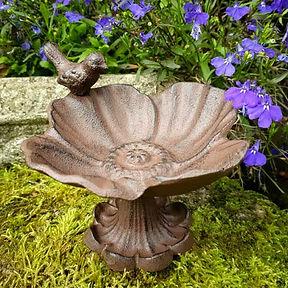 Iron Flower Bird Dish