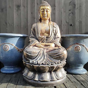 Large Seated Buddha Gold