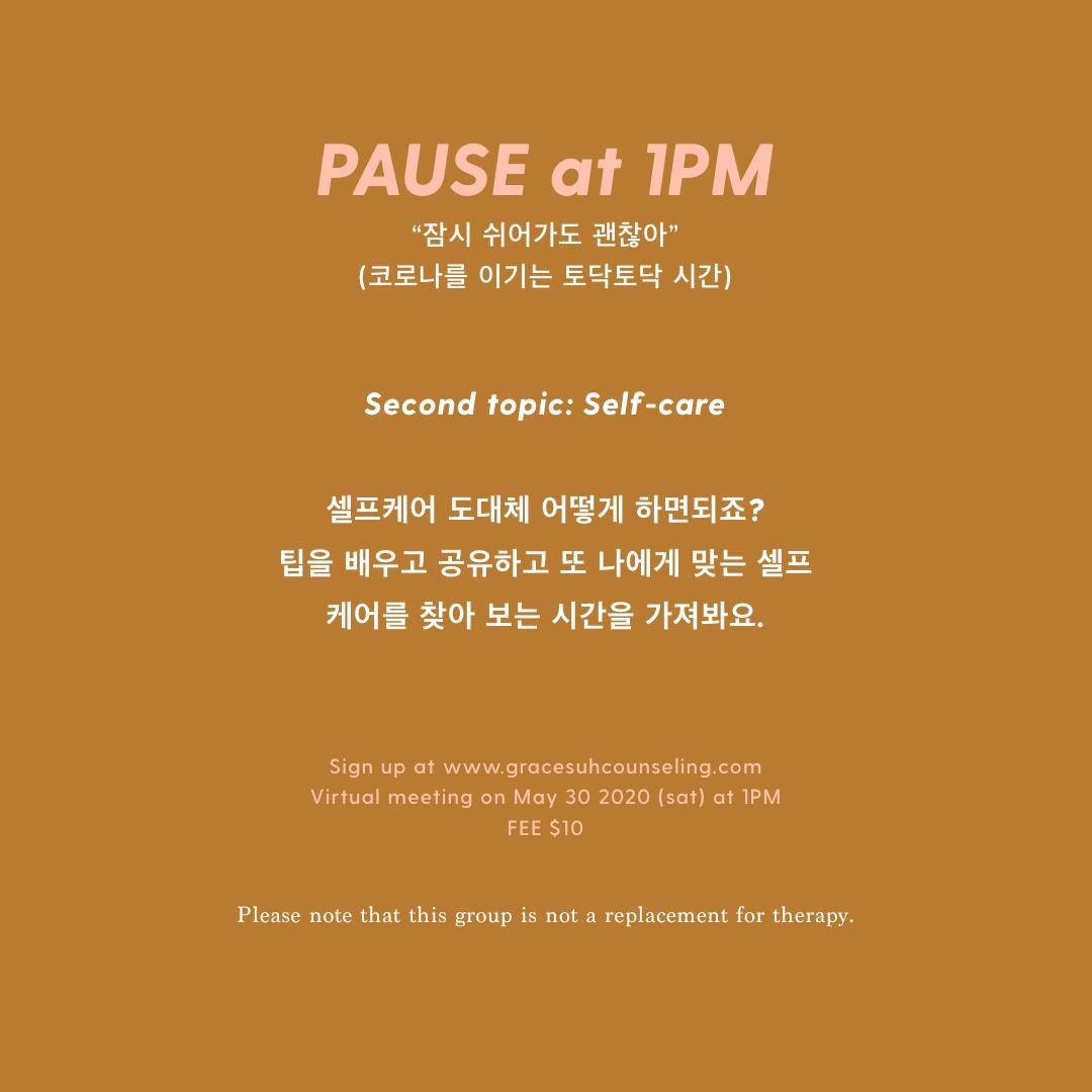 Pause at 1PM (May 30, 2020)