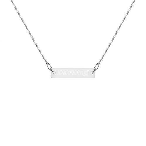 Darling Engraved Bar Necklace