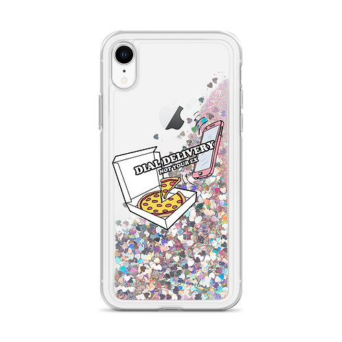 Dial Delivery Raining Glitter Phone Case