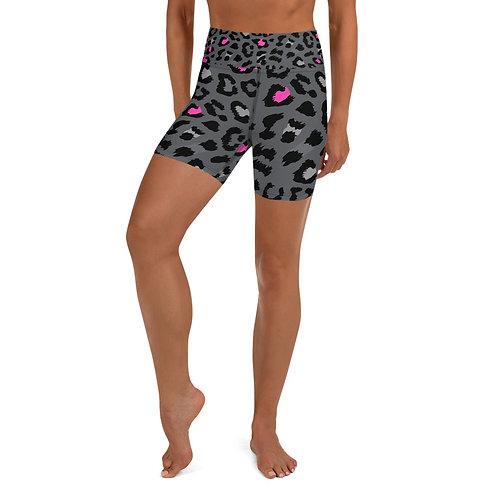 Dark Leopard Biker Shorts