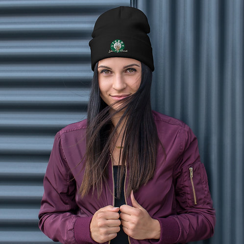 Iced Coffee Hearts Embroidered Beanie