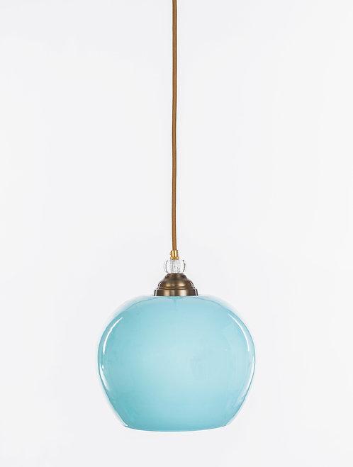 מנורת תלייה זכוכית כבל בד - וינטאג' עגול גדול
