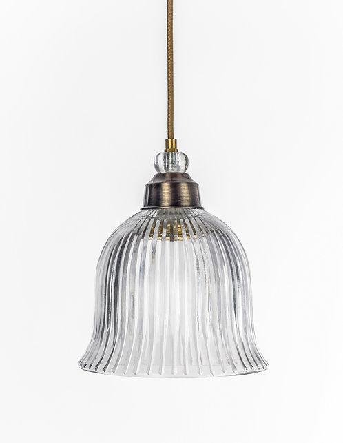 מנורת תלייה זכוכית כבל בד - רוני