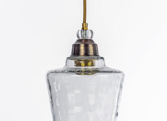 מנורת תלייה זכוכית כבל בד - שלכת
