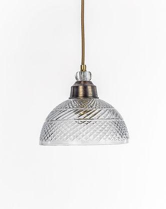 מנורת תלייה זכוכית כבל בד - קידר