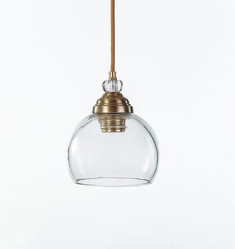 מנורת תלייה זכוכית כבל בד -ג'אן