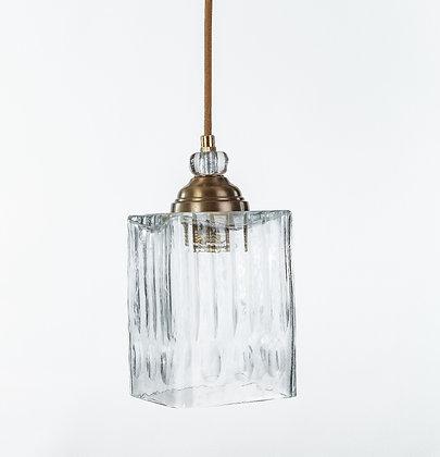 מנורת תלייה זכוכית כבל בד -גיל