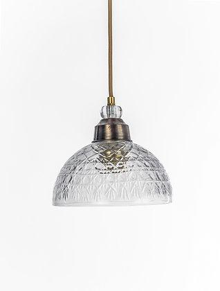 מנורת תלייה זכוכית כבל בד - קירה