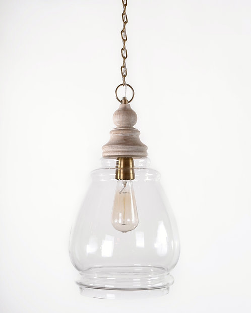 מנורת תלייה זכוכית - שריה
