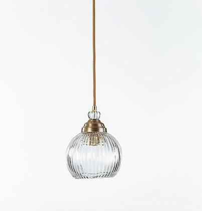 מנורת תלייה זכוכית כבל בד - אחווה
