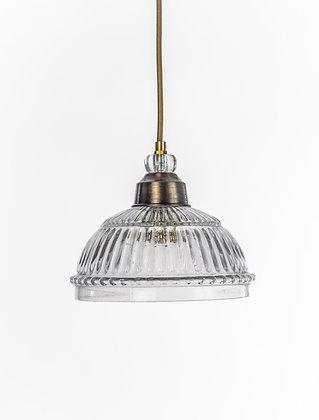 מנורת תלייה זכוכית כבל בד - רננה