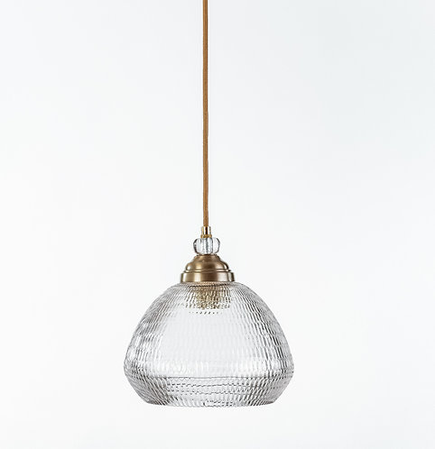 מנורת תלייה זכוכית כבל בד -ג'וי