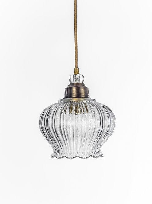 מנורת תלייה זכוכית כבל בד - נועה