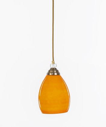מנורת תלייה זכוכית כבל בד - וינטאג' אליפסה