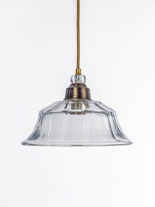 מנורת תלייה זכוכית כבל בד - עיינה