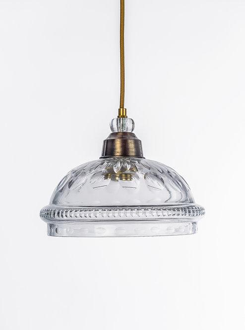 מנורת תלייה זכוכית כבל בד - עומרי