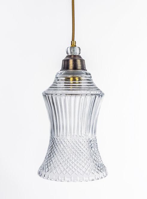מנורת תלייה זכוכית כבל בד - פיליפ