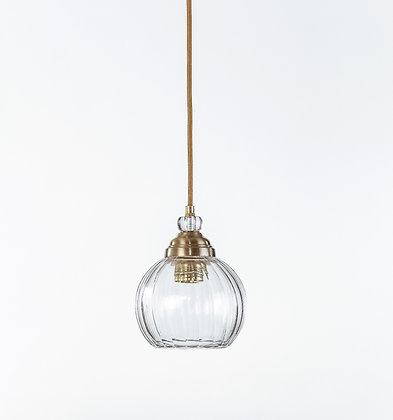 מנורת תלייה זכוכית כבל בד - אורון