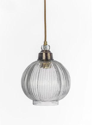 מנורת תלייה זכוכית כבל בד - שונית