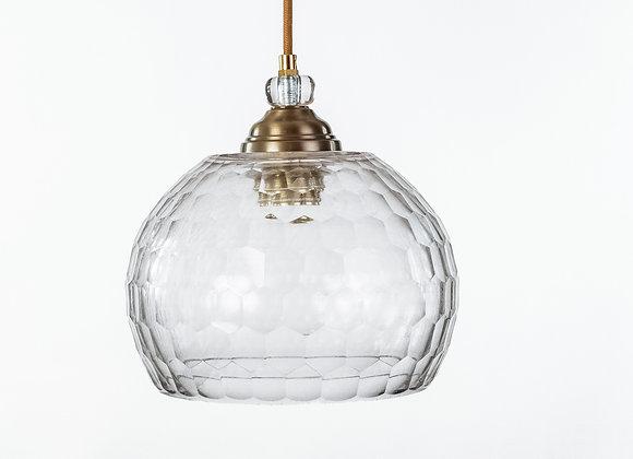מנורת תלייה זכוכית כבל בד -דורון