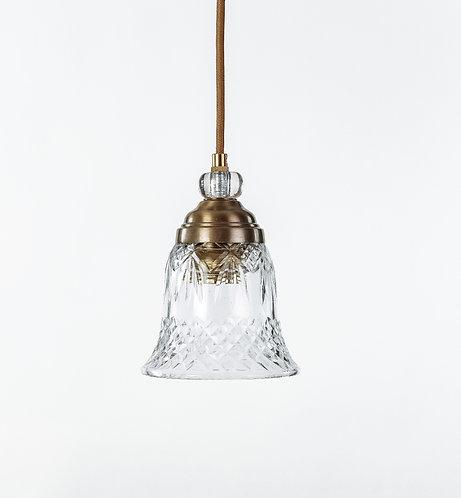 מנורת תלייה זכוכית כבל בד -בל