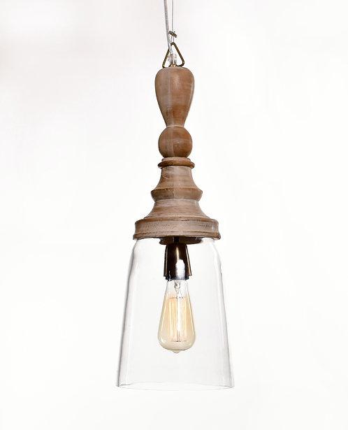 מנורת תלייה זכוכית כבל בד - שאול