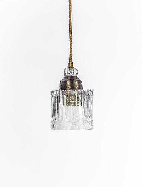 מנורת תלייה זכוכית כבל בד - רם