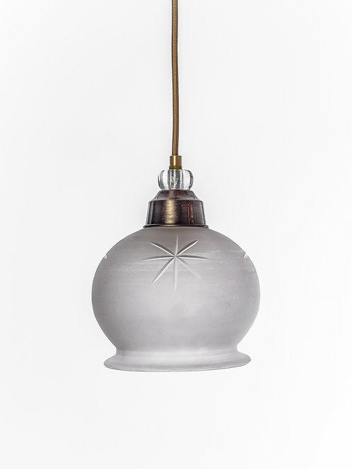 מנורת תלייה זכוכית כבל בד - עופרה