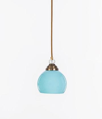 מנורת תלייה זכוכית כבל בד - וינטאג' עגול קטן