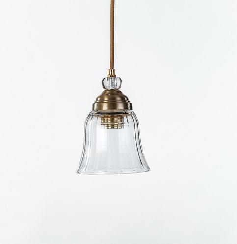 מנורת תלייה זכוכית כבל בד -בת שבע
